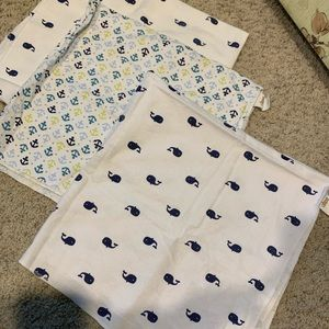 3set of whale anchor blankets